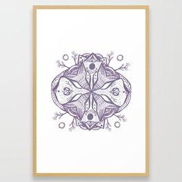 Mandala Drawing Framed Art Print