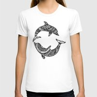 dolphins T-shirts featuring Dolphins by Emma Barker