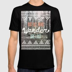 Wander Black X-LARGE Mens Fitted Tee