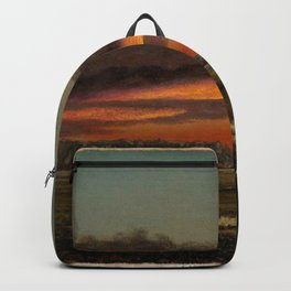 Sunset Over The Marshes 1904 By Martin Johnson Heade   Reproduction Backpack