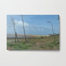 Near beach of Phare de la Coubre at te Atlantic Ocean Metal Print