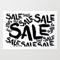 sale Art Prints featuring Sale by LoRo  Art & Pictures