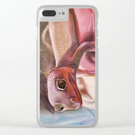 Patternless Leopard Gecko Clear iPhone Case