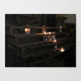 Soft candles Canvas Print