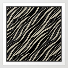 Tiger abstract striped pattern . Art Print