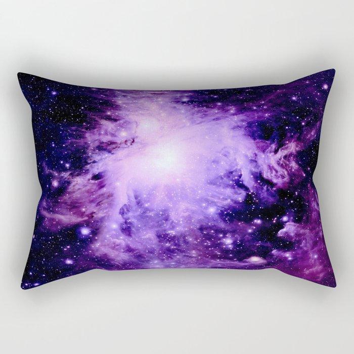 Orion nebUla. : Purple Galaxy Rectangular Pillow