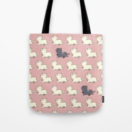 Proud cat pattern Pink Tote Bag