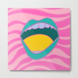mouth grooves Metal Print