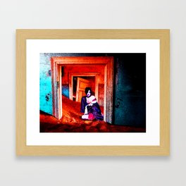 The Woman in the Dunes Framed Art Print