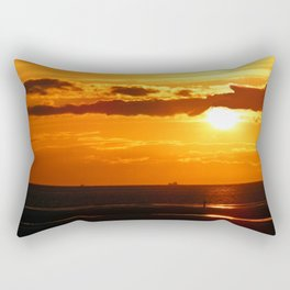 Sunset in the Bay Rectangular Pillow