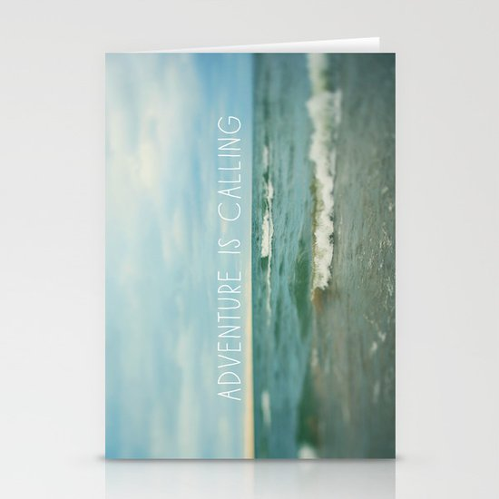 Adventure is Calling - Waves Stationery Cards