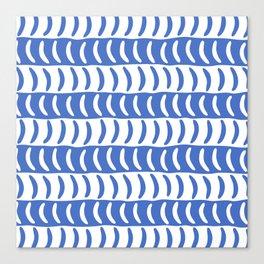 Wavy Stripes Blue 2 Canvas Print