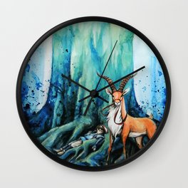 """At the tree's feet"" Wall Clock"