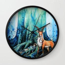 """""""At the tree's feet"""" Wall Clock"""