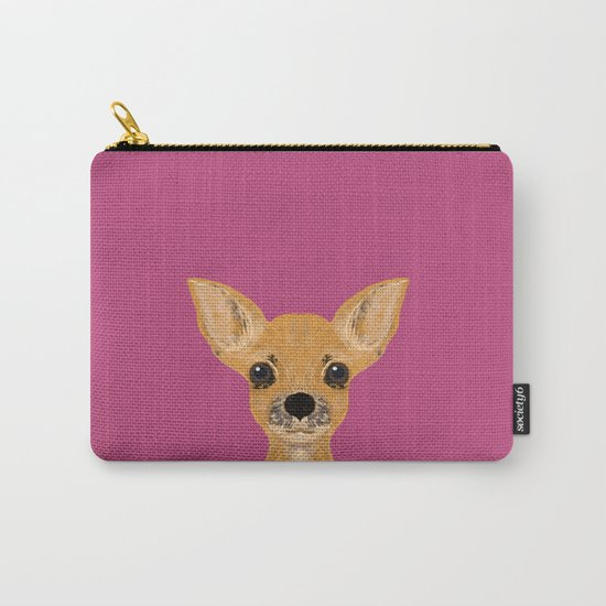 Lulu - chihuahua, cute pet cute dog cell phone case, gift for dog people Carry-All Pouch