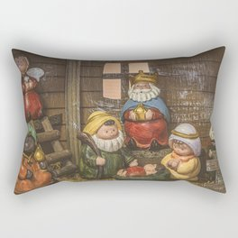 In the Stable. Rectangular Pillow