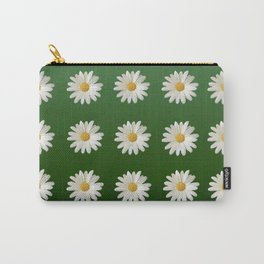 Daisies (green background) Carry-All Pouch