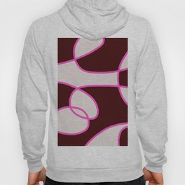 Asbtract Graphic Design Scarlet Hoody