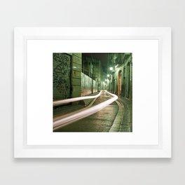 Barcelona, Spain night streets. Framed Art Print