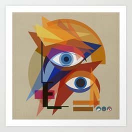 David Bauhaus (White Square) Art Print