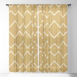Urbana in Gold Sheer Curtain