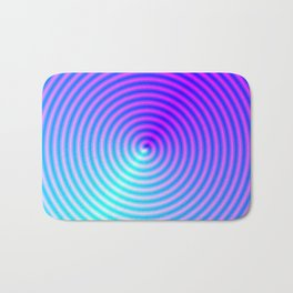 Coiled in Blue and Pink Bath Mat