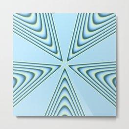 Linear Waves in MWY 01 Metal Print