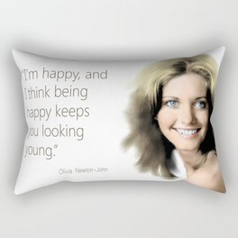 Movie star art - Olivia Newton John Rectangular Pillow