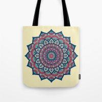 islam Tote Bags featuring Mandala by Mantra Mandala