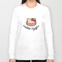 shingeki no kyojin Long Sleeve T-shirts featuring HELLO KYOJIN by emperorofruin