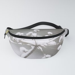 Snow Covered Plant Winter Scene Fanny Pack
