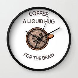 Coffee And Brain Wall Clock
