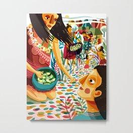 Necklace o Skulls - Street Metal Print