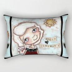 Hello Sunshine - by Diane Duda Rectangular Pillow