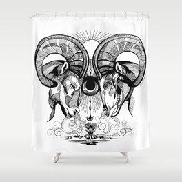 Aries Rams Shower Curtain