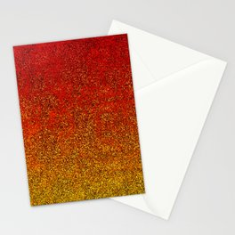 Flame Glitter Gradient Stationery Cards