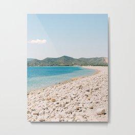 Stony Beach in Paradise   Fine Art Travel Photography   Shot on Ibiza Metal Print