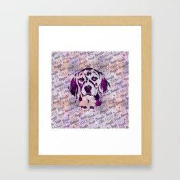 Beagle dog digital art Framed Art Print