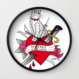 01 - TATTOO YOU ONLY LIVE ONCE Wall Clock