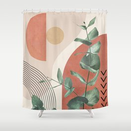 Nature Geometry IV Shower Curtain