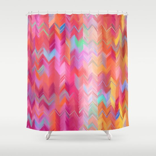 Colorful Painted Chevron Pattern