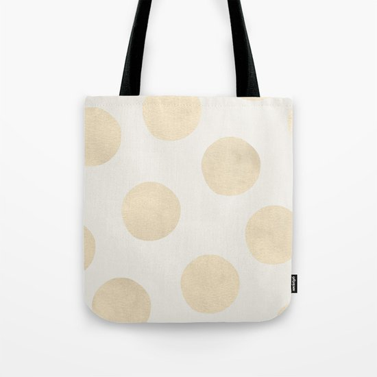 Gold Polka Dots Tote Bag