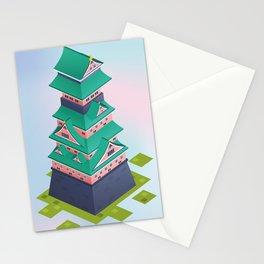 Japanese Isometric Castle Stationery Cards
