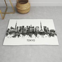Tokyo Japan Skyline BW Rug