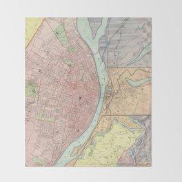 Vintage Map of St Louis MO (1897) Throw Blanket