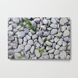 Sea Stones - Gray Rocks, Texture, Pattern Metal Print