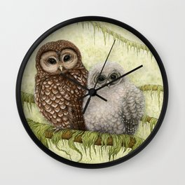 Northern Spotted Owls Wall Clock