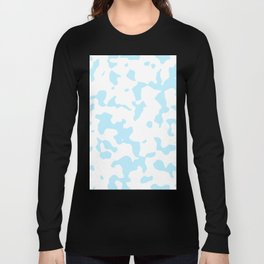 Large Spots - White and Light Blue Long Sleeve T-shirt
