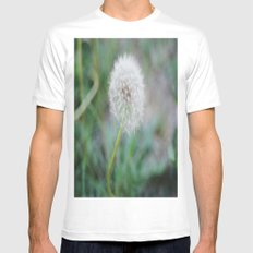 Lone Dandelion Mens Fitted Tee MEDIUM White