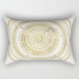 Quaking Aspen – Gold Tree Rings Rectangular Pillow